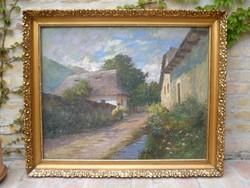 Szontágh Tibor (1873-1930) 80 x 100 cm-es festménye
