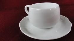 LILIEN porcelán Ausztria, teáscsésze + alátét. Az alátét nyomott mintás, fehér.