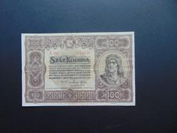 100 korona 1920 A 011 Szép ropogós bankjegy
