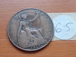 ANGLIA ANGOL 1 PENNY 1917 65.