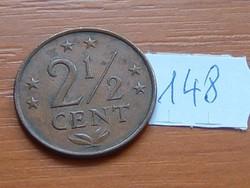 HOLLAND ANTILLÁK 2 1/2 CENT 1975 148.