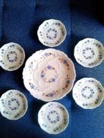 6+1 zsolnay porcelán készlet régi