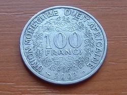 NYUGAT AFRIKA 100 FRANK FRANCS 2002 #