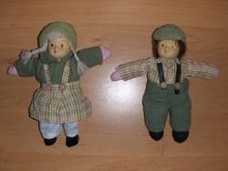 Retro porcelán fejű babbal töltött lány és fiú baba párban (5/d)