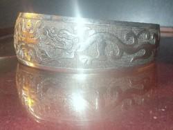 Sárkány mint.Tibeti Ezüst kézműves Karkötő