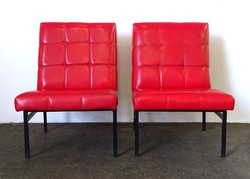 0X912 Retro design piros klubfotel pár