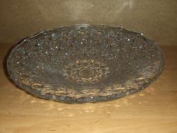 Gyönyörű üveg kínáló tál átm. 33 cm (6p)