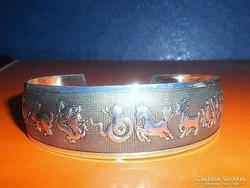 Zodiákus állatégövi jegyek Tibeti Ezüst kézműves Karkötő