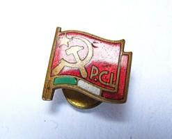 Olasz Kommunista Párt tagsági gomblyukjelvény.