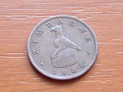 ZIMBABWE 1 CENT 1986