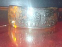 Szerencse Elefánt Tibeti Ezüst kézműves Karkötő