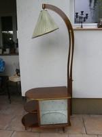 Antik, ritka szép szekrény lámpával