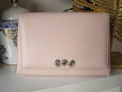 Zafír Táska, ezüst díszítésű exkluzív bőr táska rózsaszín - teljesen egyedi