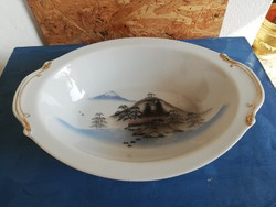Kutani-meikei keleti porcelán tál
