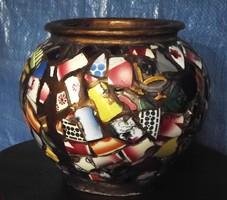 Made of porcelain rubble eva zeisel style plant pot