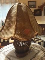 Rattan asztali lámpa