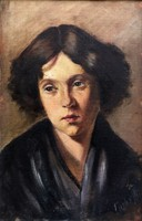 Fiatal lány portréja..! 1900-as évek eleje!