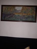 Erdőrészlet festmény keretben!