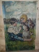 Remek kis festmény, olyan Hummeles. Olaj, vásznon, és öreg!