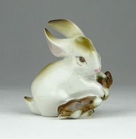 0X986 Zsolnay nyúl nyuszi porcelán figura