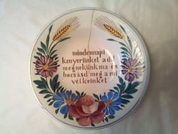Miatyánkos  apátfalvi tányér  (4.)