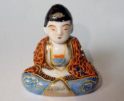 Régi japán porcelán Buddha szobor - jelzett