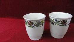 LILIEN porcelán Ausztria, kézzel festett boros pohár.