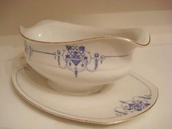 Nagyon szép régi Cseh porcelán szószos tál, kínáló tál