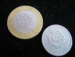 Marokkói  1 és10  Dirhem     érmék
