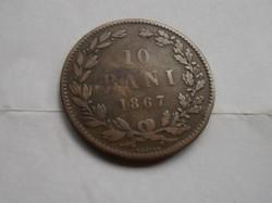Román 10 bani 1867