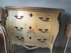 Olasz kezzel festett barokk komod es konzol asztalka