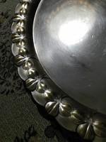 AK & Cie. Albert Köhler, Jugendstil - szecessziós, ezüstözött, kerek , nagy méretű tálca eladó.