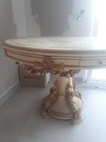 Antik olasz kezzel festett  barokk asztal