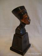 Nefertit királyné büszt réz , vagy bronz