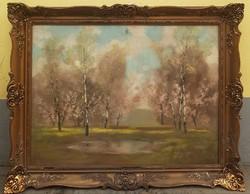 Kézdi Kovács László (1864-1942) Tavaszi Virágzás 120x95 cm Eredeti fesmény Garanciával