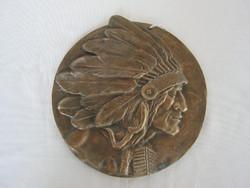 Réz fali dísz indián