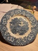 Wedgwood kék angol porcelán lapostányér