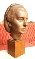 G.Fekete Géza (1906-1976) - Női fej szobor 1940