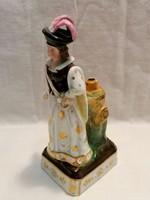 Jelzett antik porcelán figura , talán ibolya váza