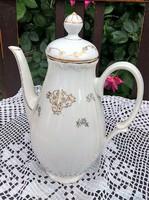 Gyönyörű arany mintás MZ porcelán kávés/teás kancsó, kiöntő