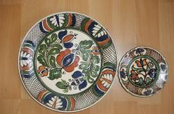 Két korondi tányér