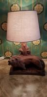 Terrakotta szobros asztali lámpa.....44 cm magas