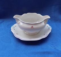 Antik jelzett porcelán mártásos szószos kínáló tál (14/d)