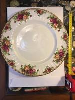 Angol porcelán tányér, nagy méretű, gyönyörű állapotban, kiváló ajándék, szobadisz, használatra is..