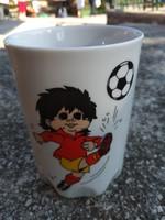 Zsolnay Emlék pohár - focis