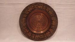 Zsűrizett jelzett bronz fémműves falitál