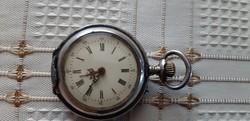 Antik női ezüst apálca zsebóra 1800-as évekből