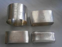 4 db német ,ezüst szalvéta gyúrú