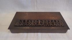 Busójárás fémműves iparművész bronz doboz