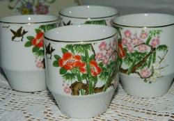 Japán  Kozan Gama porcelán teás csésze 4 db